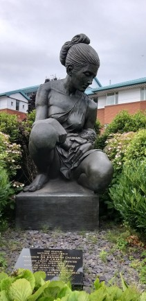 cropped statue